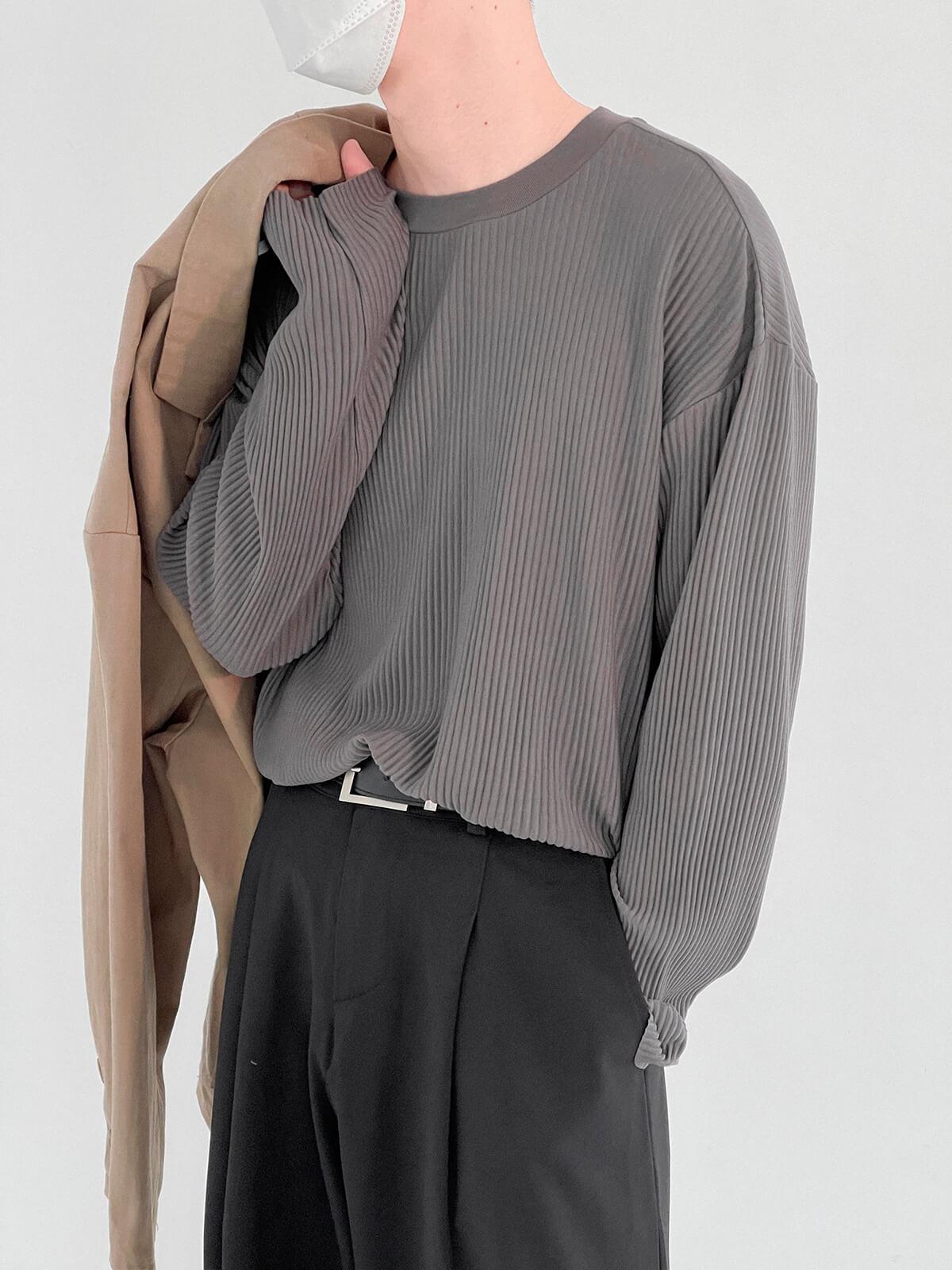 Лонгслив DAZO Studio Pleated Basic Long Sleeve (3)