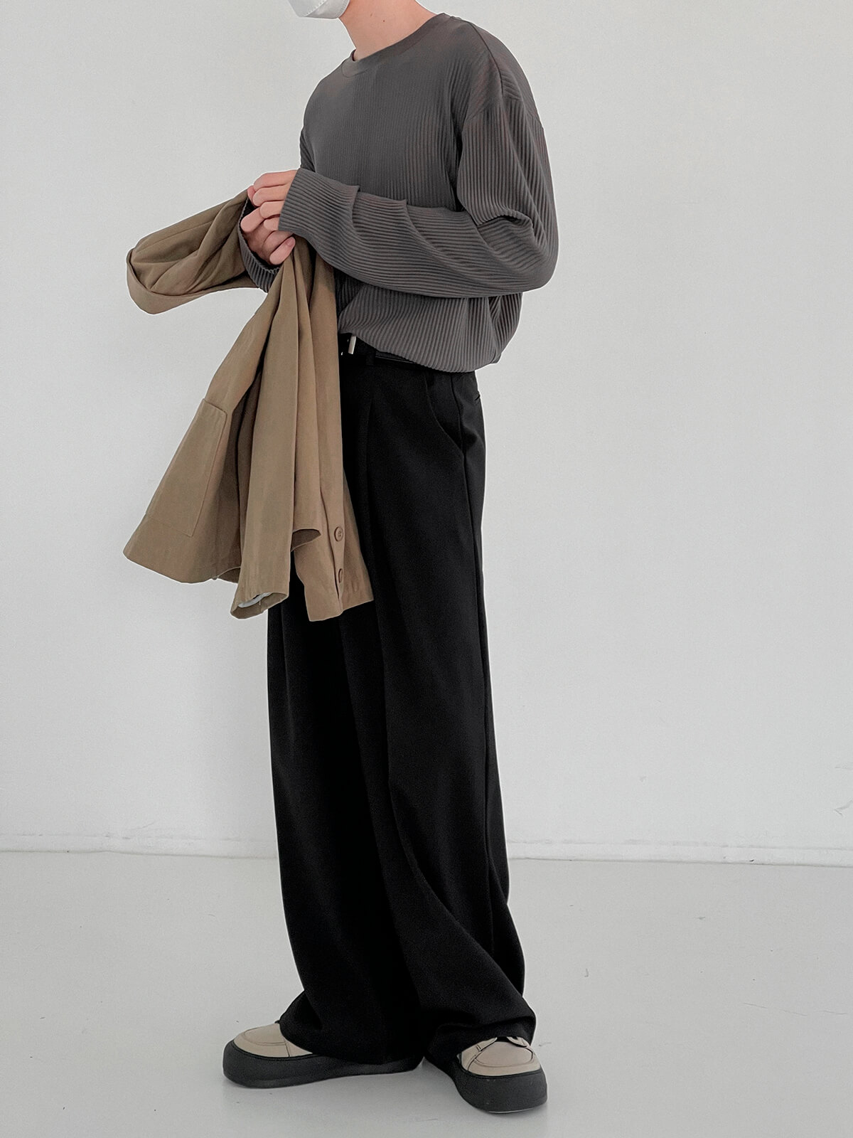 Лонгслив DAZO Studio Pleated Basic Long Sleeve (4)