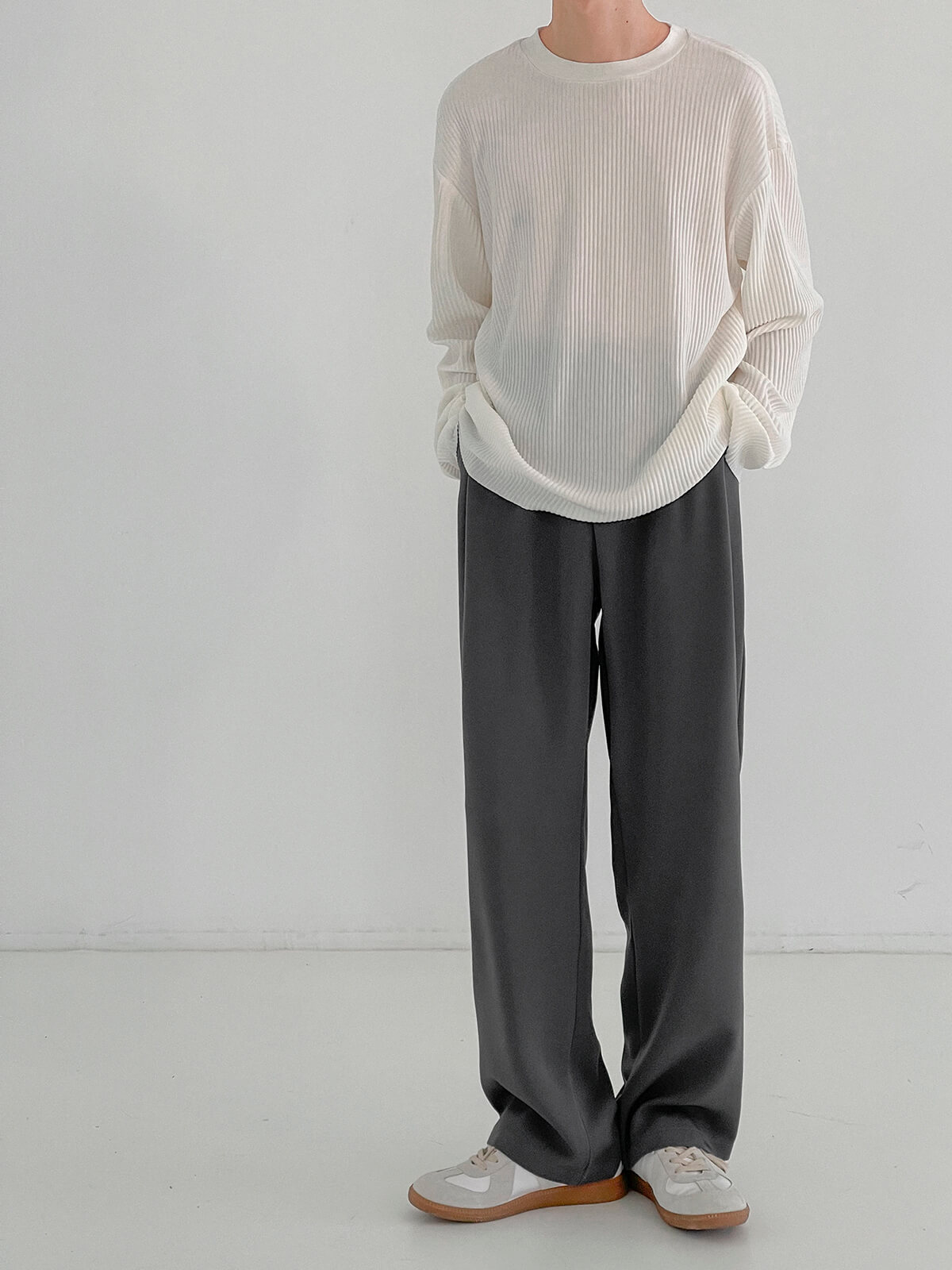 Лонгслив DAZO Studio Pleated Basic Long Sleeve (9)