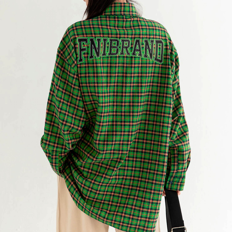 Рубашка DL Studio Loose Plaid Shirt (1)
