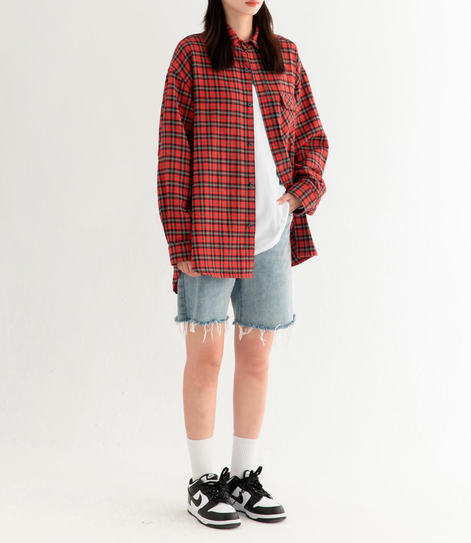 Рубашка DL Studio Loose Plaid Shirt (15)