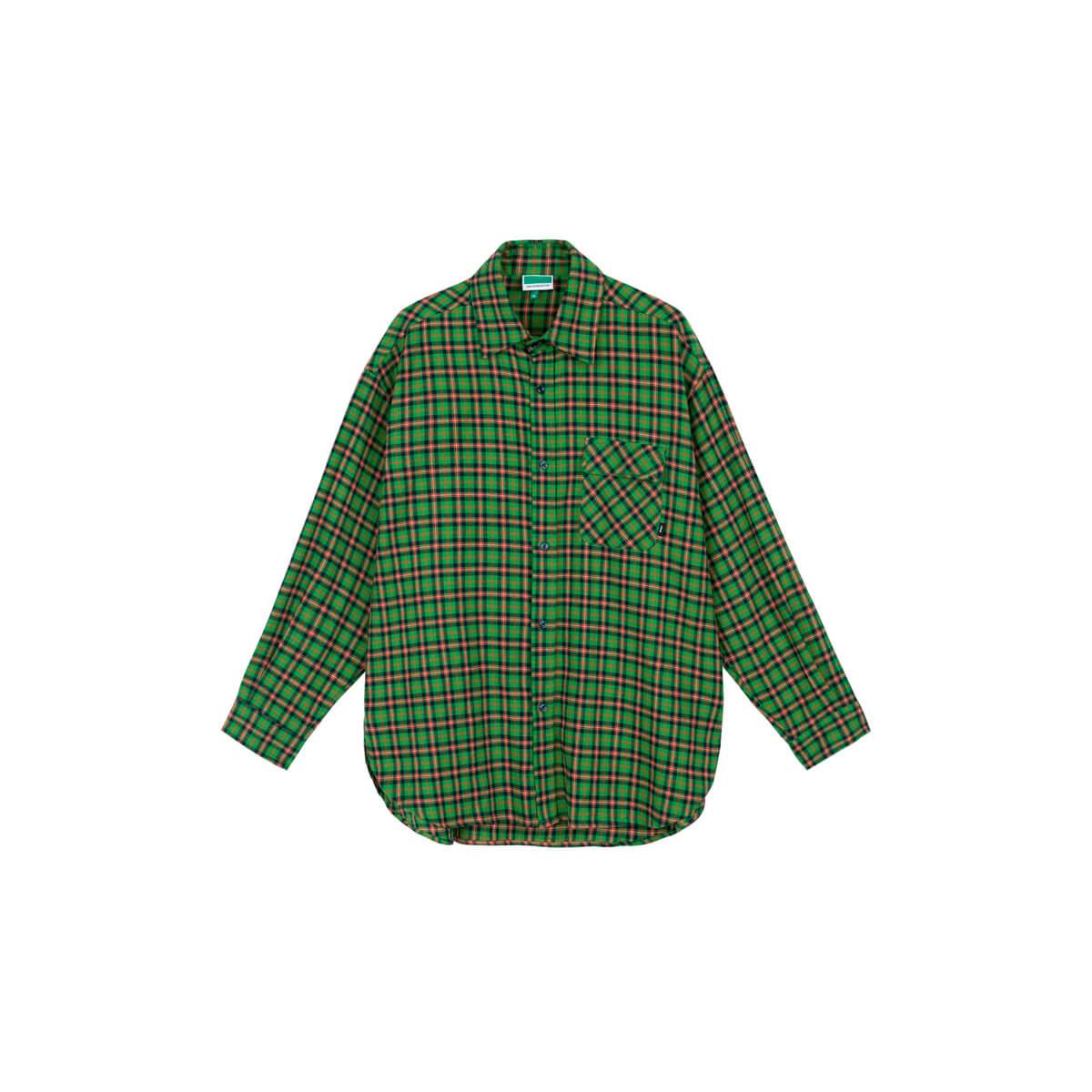 Рубашка DL Studio Loose Plaid Shirt Green