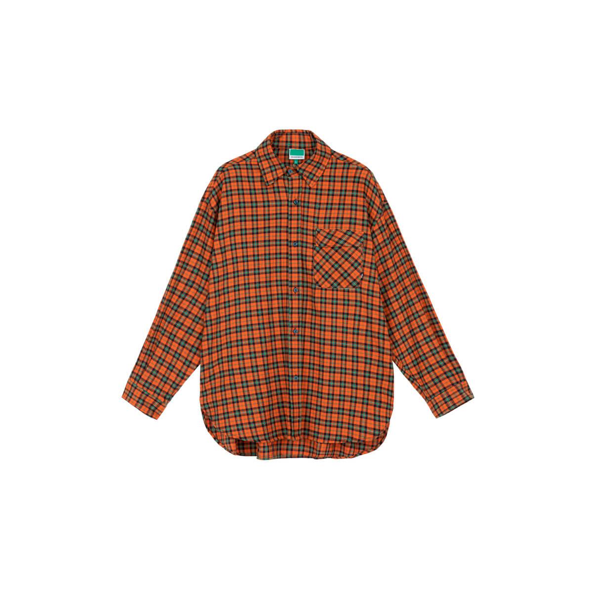 Рубашка DL Studio Loose Plaid Shirt Orange