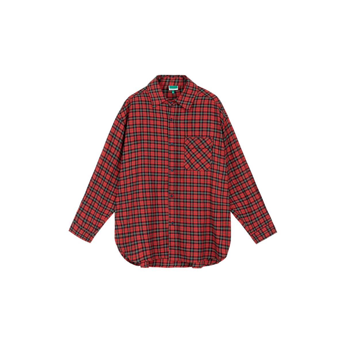 Рубашка DL Studio Loose Plaid Shirt Red