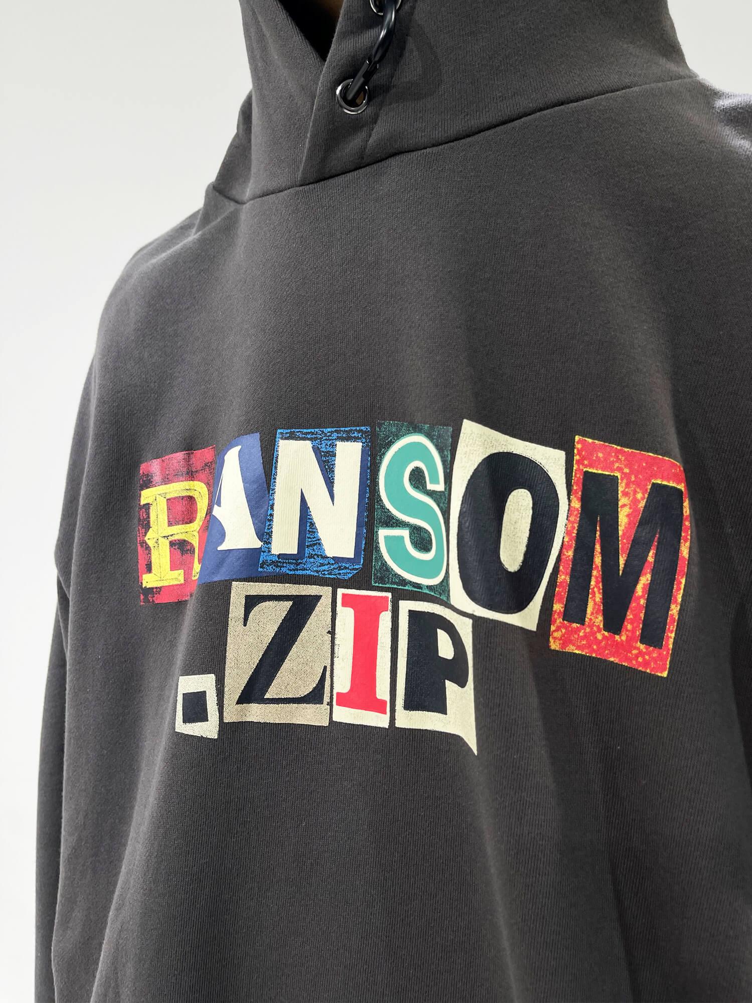 Худи GB Studio Hoodie Printed Letters Ransom Zip Print (2)