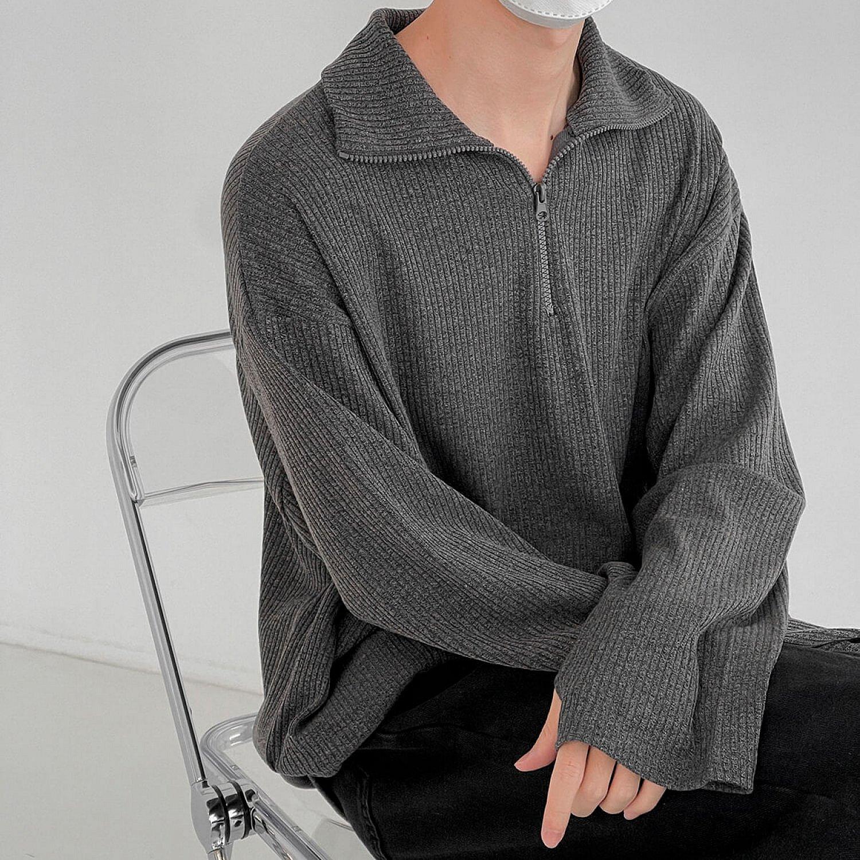 Водолазка DAZO Studio Raised Collar Zip Turtleneck (2)