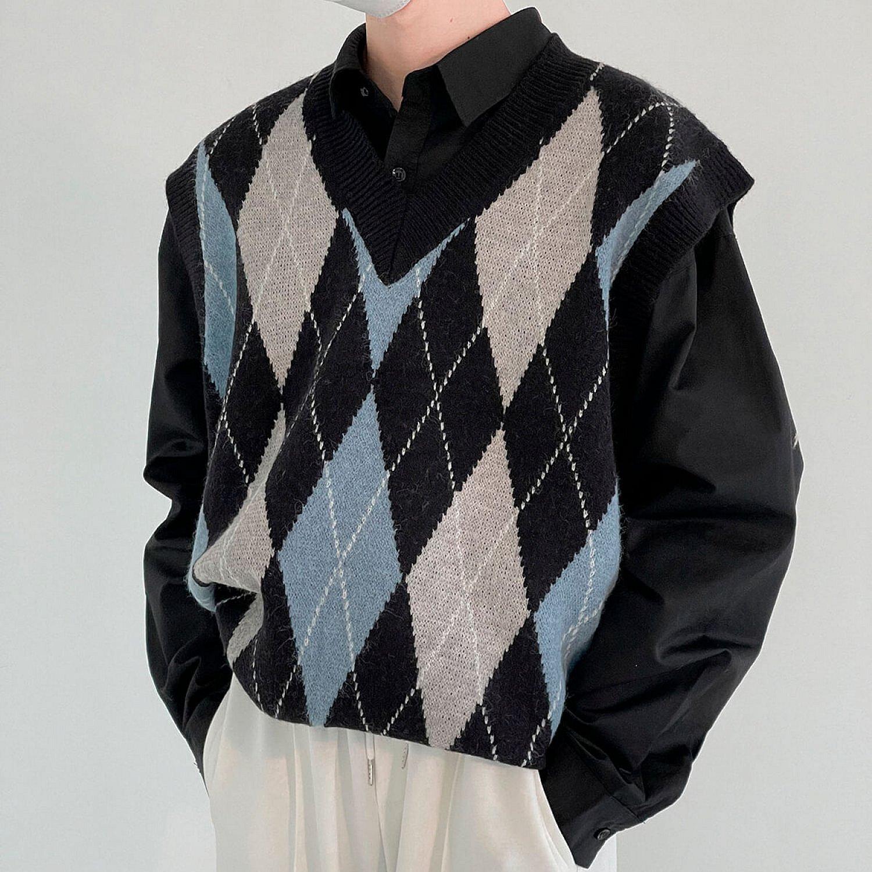 Жилет DAZO Studio Knitted Vest Diamond Pattern (1)