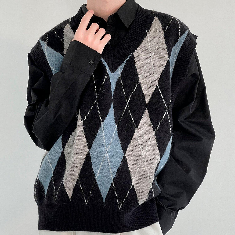 Жилет DAZO Studio Knitted Vest Diamond Pattern (2)