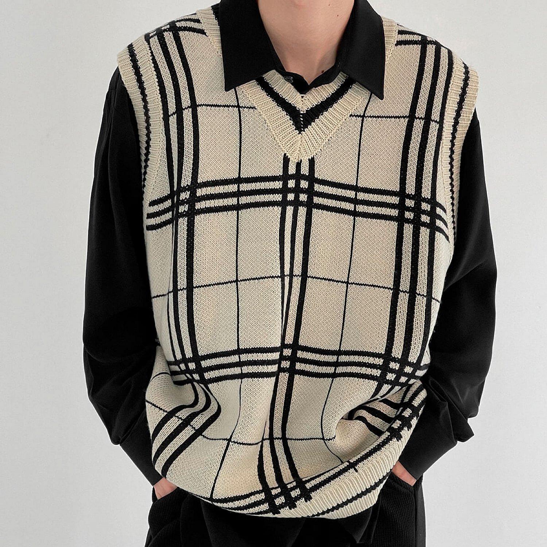 Жилет DAZO Studio Knitted Vest Linear Pattern (1)