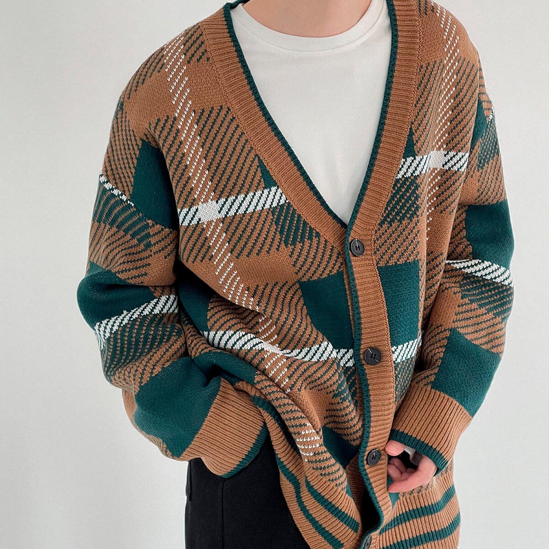 Кардиган DAZO Studio Knitted Cardigan V-Neck Abstract Pattern (2)