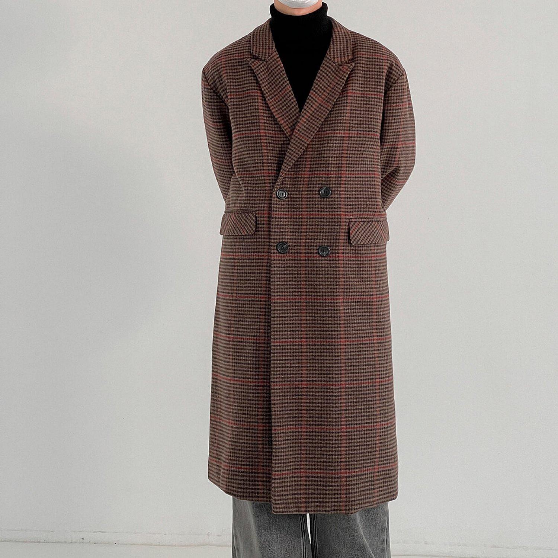 Пальто DAZO Studio Plaid Long Wool Coat (2)