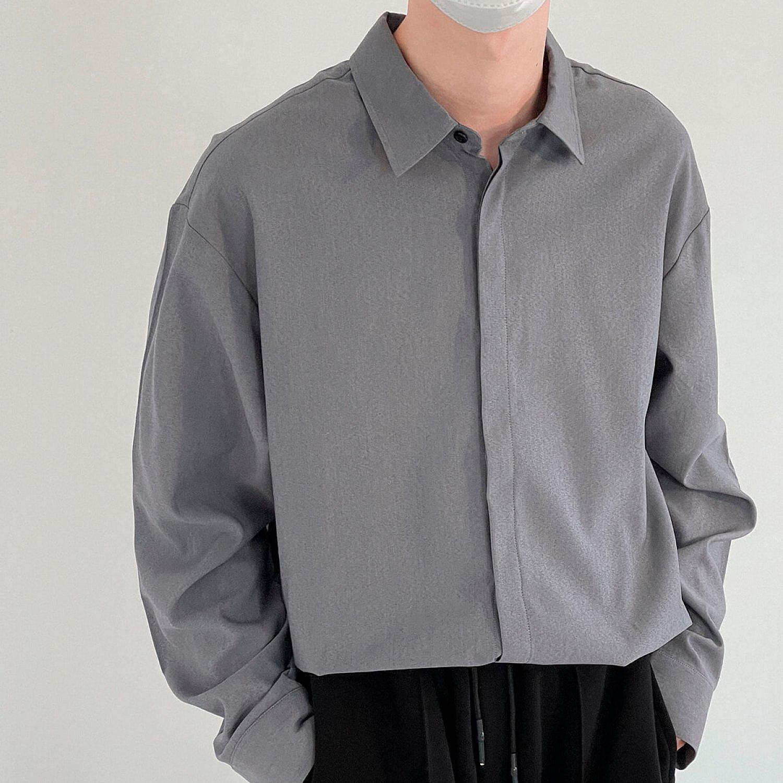 Рубашка DAZO Studio Casual Gray Blue Shirt (1)