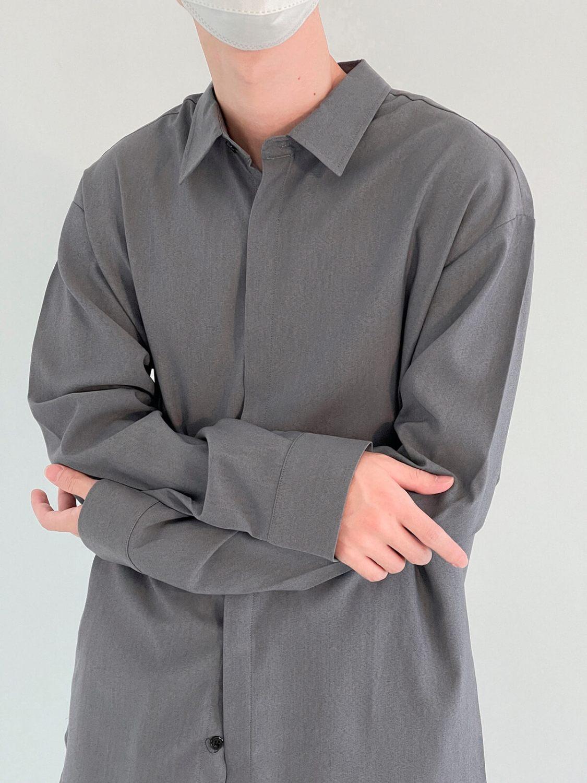 Рубашка DAZO Studio Casual Gray Blue Shirt (2)