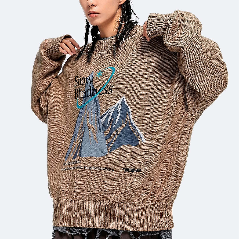 Свитер 2GUNS Oversized Sweater Mountain Print (1)