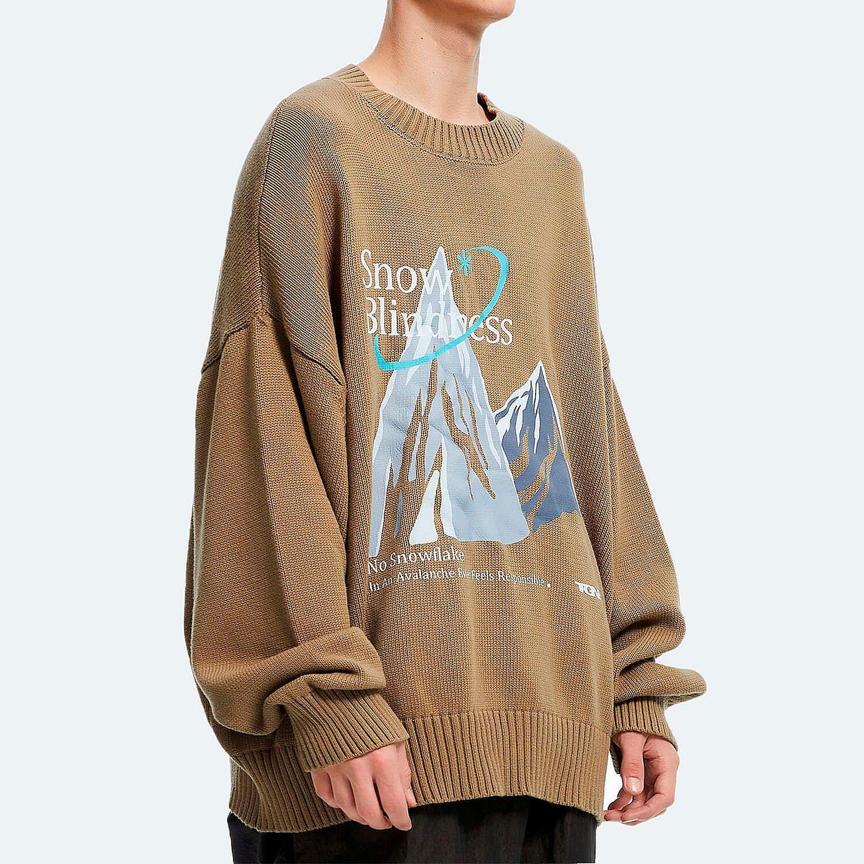 Свитер 2GUNS Oversized Sweater Mountain Print (2)