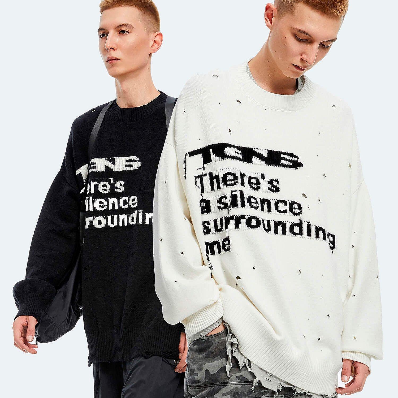 Свитер 2GUNS Ripped Sweater Silence Logo (1)