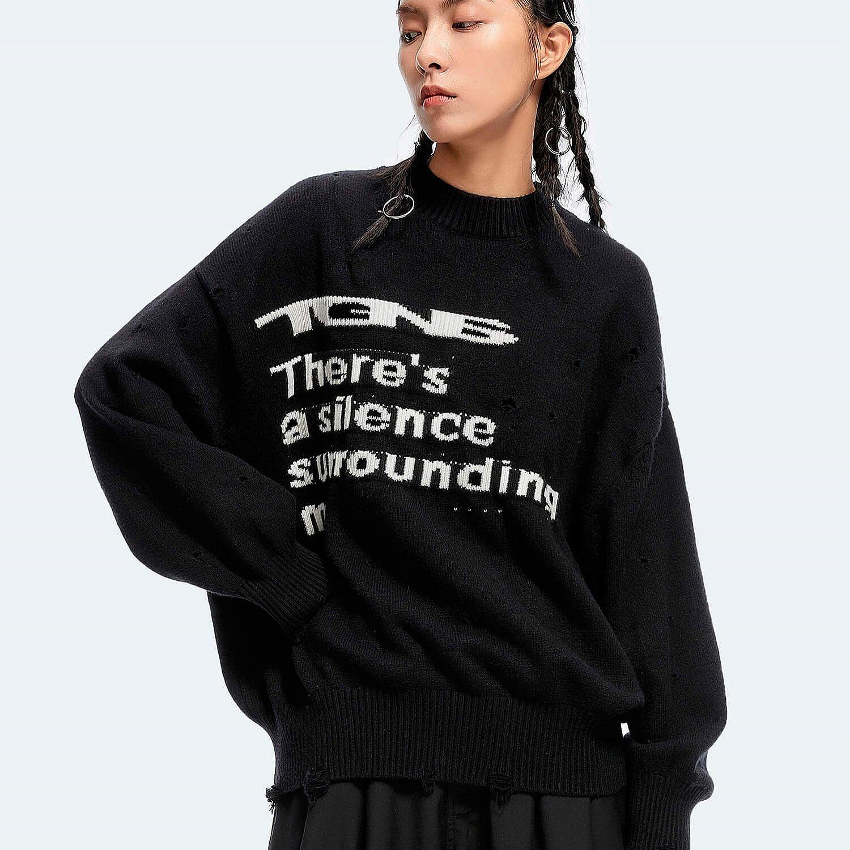 Свитер 2GUNS Ripped Sweater Silence Logo (2)