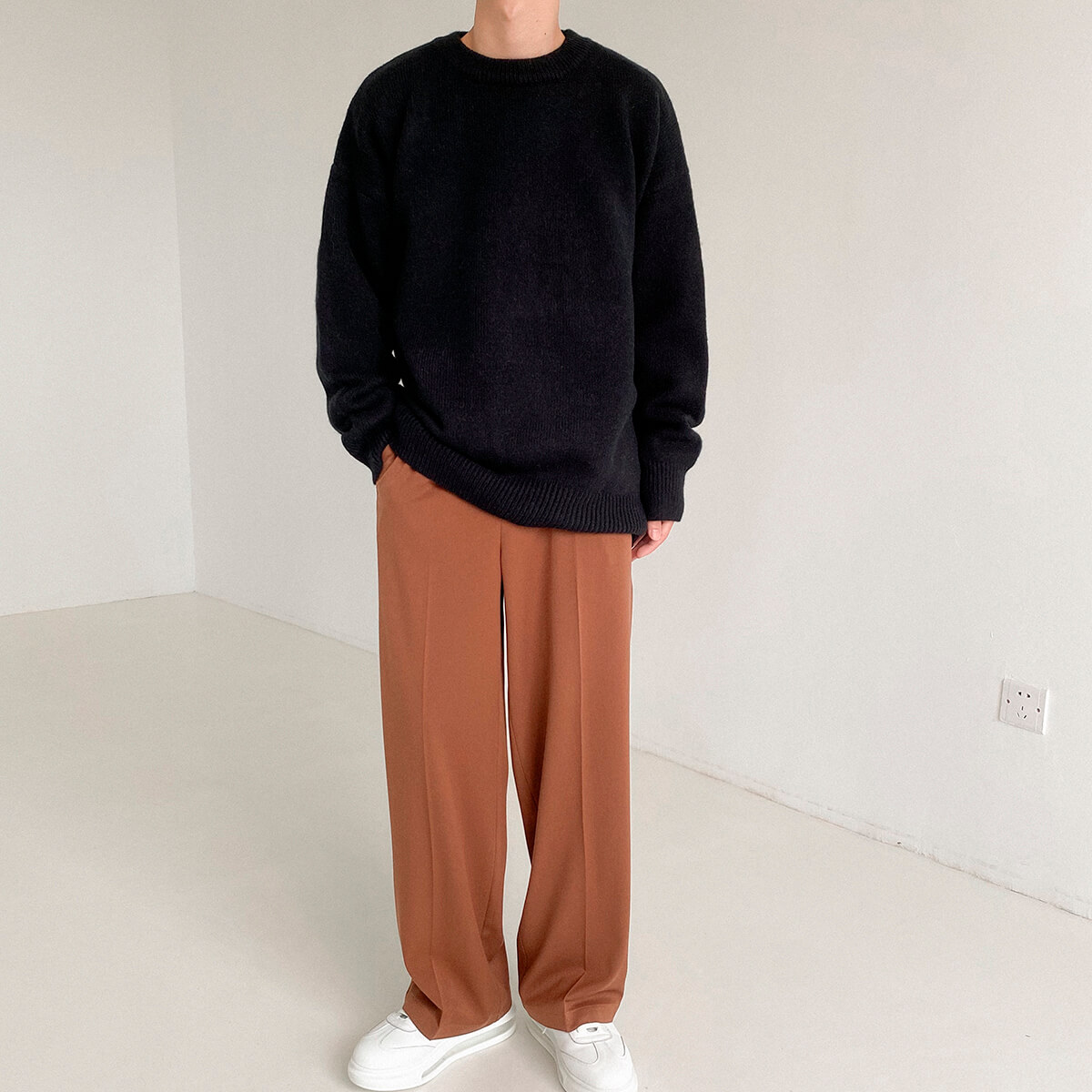 Свитер DAZO Studio Solid Colored Woolen Sweater Yarn (10)