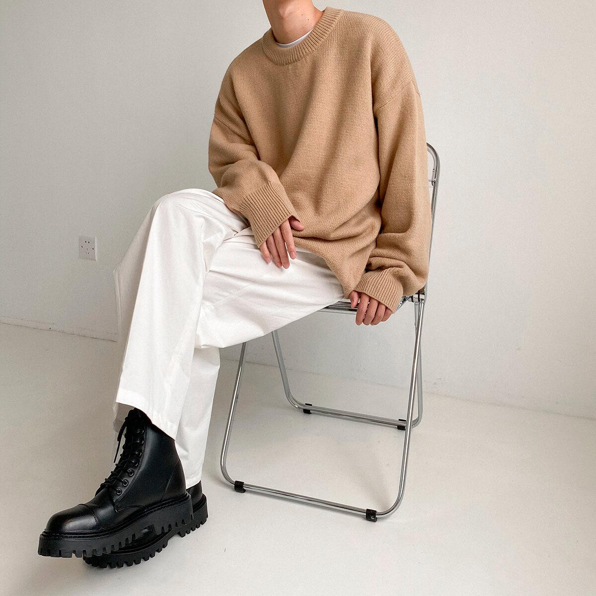 Свитер DAZO Studio Solid Colored Woolen Sweater Yarn (5)