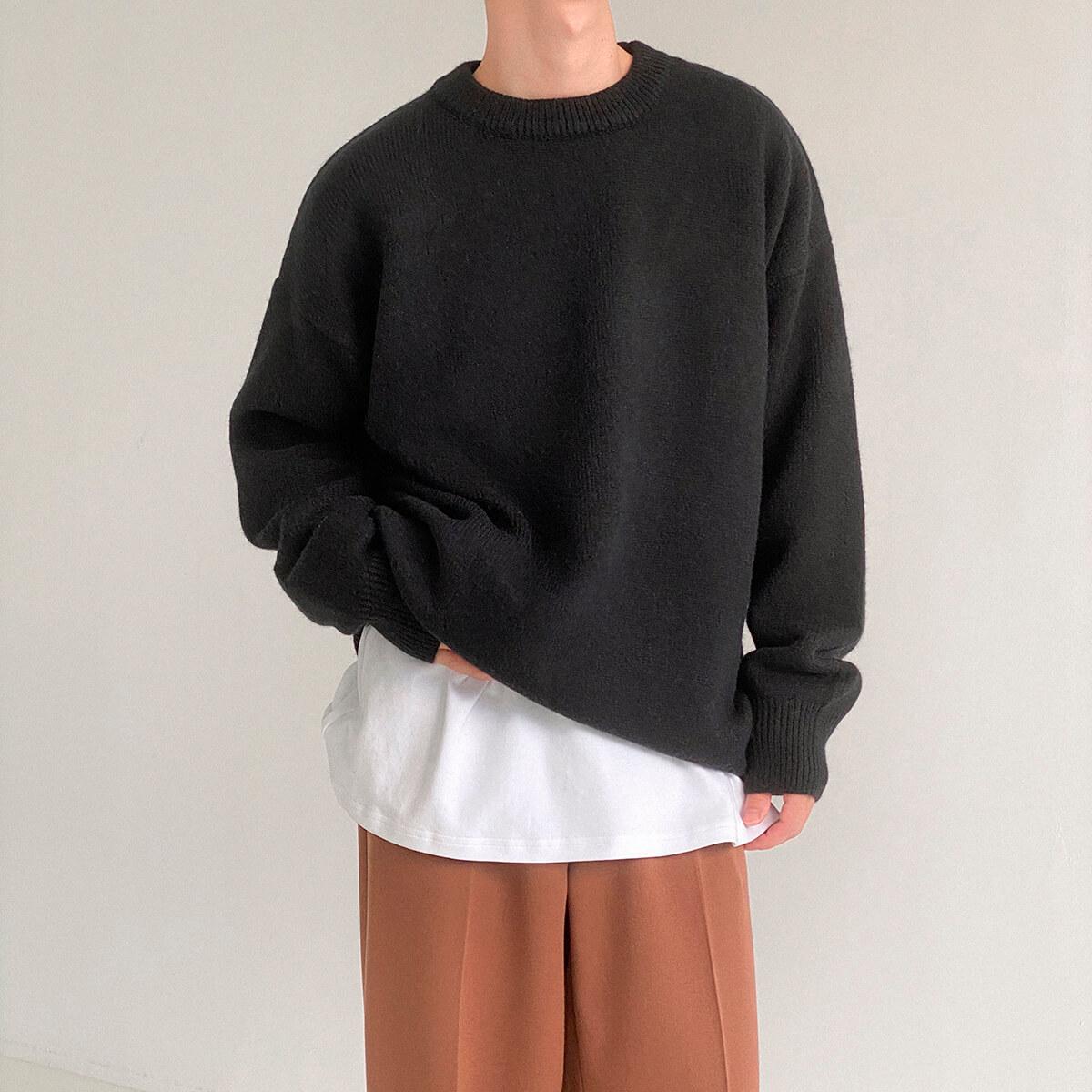 Свитер DAZO Studio Solid Colored Woolen Sweater Yarn (6)