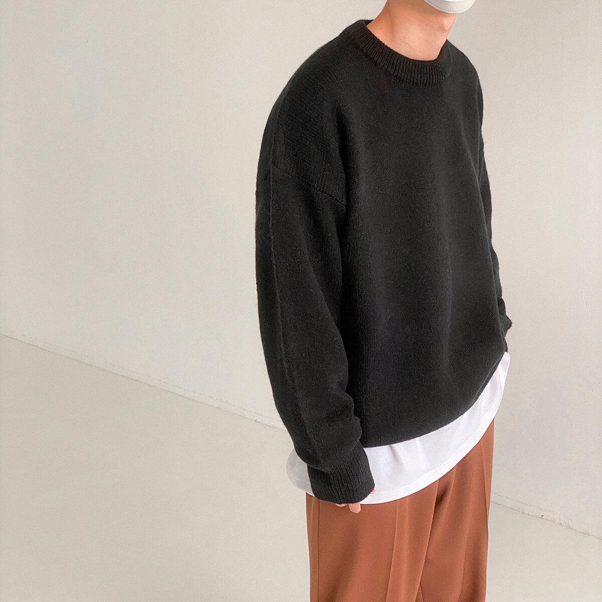 Свитер DAZO Studio Solid Colored Woolen Sweater Yarn (7)