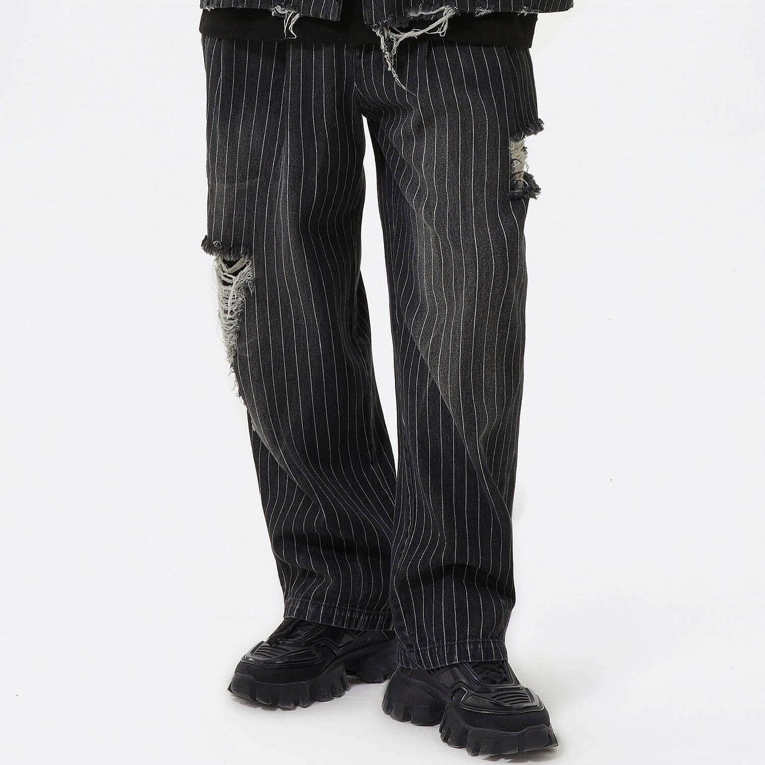Джинсы 2GUNS Washed Ripped Striped Jeans (1)
