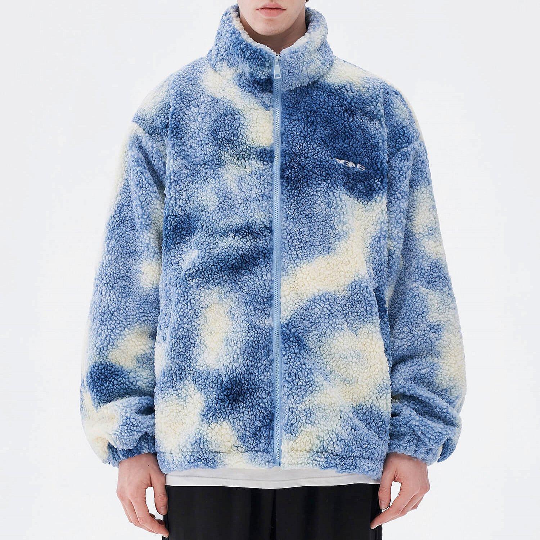 Куртка 2GUNS Sherpa Jacket Washed Tie-Dye Pattern (1)