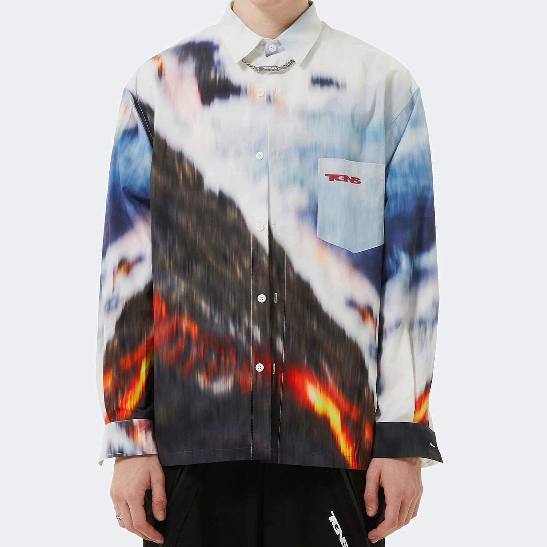 Рубашка 2GUNS Shirt Volcanic Blurred Print (1)