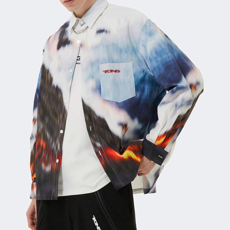Рубашка 2GUNS Shirt Volcanic Blurred Print (2)