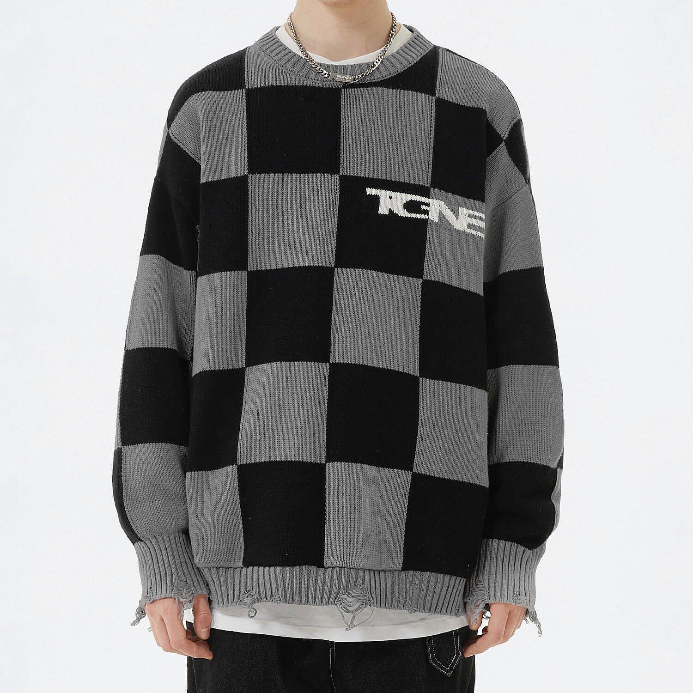 Свитер 2GUNS Ripped Knit Sweater Chess Pattern (1)