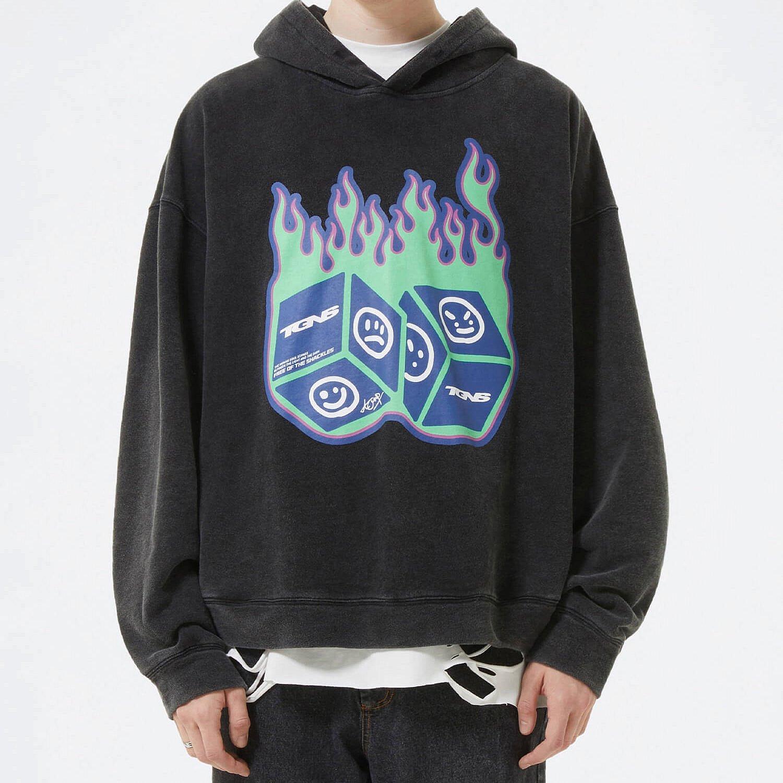 Худи 2GUNS Flame Dice Hoodie Print (1)