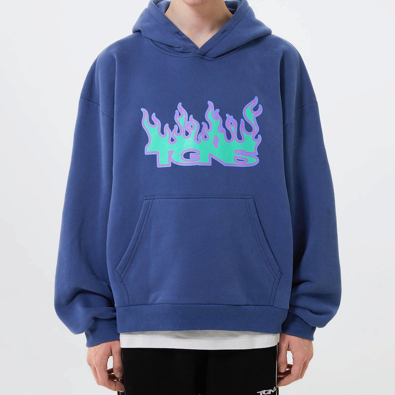 Худи 2GUNS Flaming Logo Hoodie Print (1)